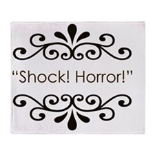 Shock horror Throw Blanket