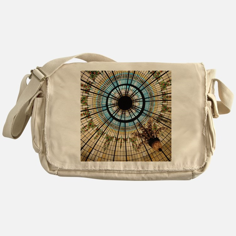 This colorful stained-glass ceiling  Messenger Bag