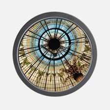 This colorful stained-glass ceiling is  Wall Clock