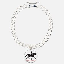 dressage trot with type Charm Bracelet, One Charm
