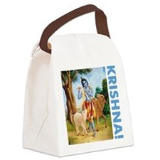 kids_bottle_krishna_blue Canvas Lunch Bag