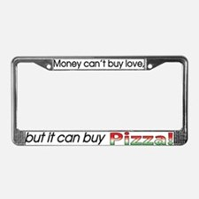 Money-Pizza License Plate Frame
