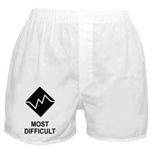 Most Difficult Trail Sticker Boxer Shorts