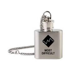 Most Difficult Trail Sticker Flask Necklace