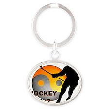 hockey24-7 Oval Keychain