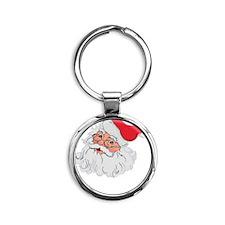 Korean Santa Claus (dark) Round Keychain