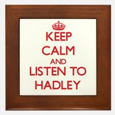 Keep Calm and listen to Hadley Framed Tile