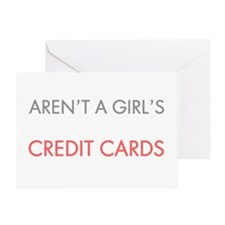 Diamonds best friend light Greeting Card