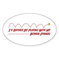 Boykin Play Oval Decal