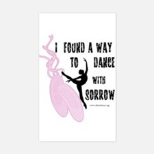 Dance with Sorrow Rectangle Decal