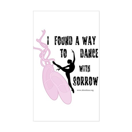 Dance with Sorrow Rectangle Sticker