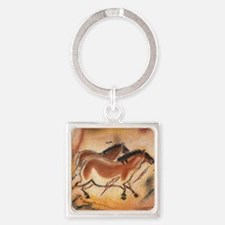 cave-drawing-1 Square Keychain