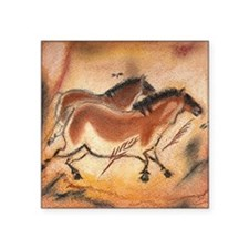 """cave-drawing-1 Square Sticker 3"""" x 3"""""""