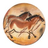 Cave art Round Car Magnets