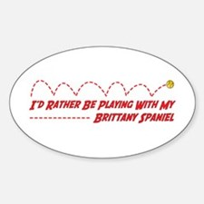 Brittany Play Oval Decal