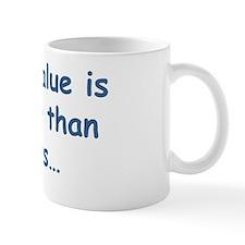 pvalue blue Mug