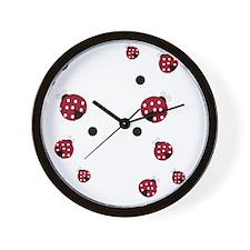 Modern Ladybug Flip Flops Wall Clock