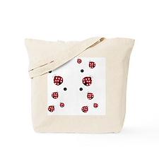 Modern Ladybug Flip Flops Tote Bag