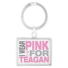 I-wear-pink-for-TEAGAN Landscape Keychain