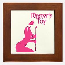 Pink Toy Framed Tile