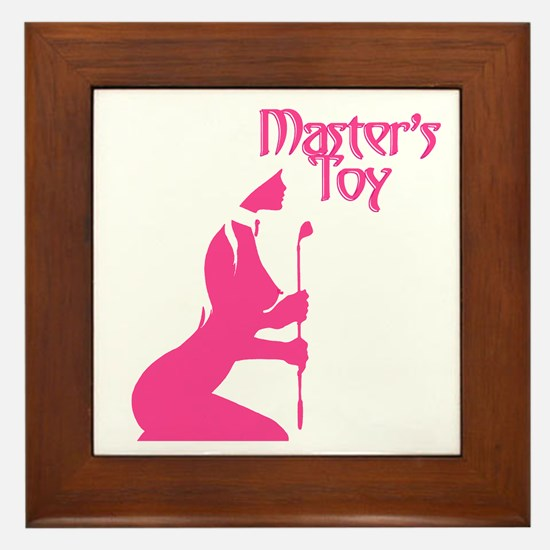 Pink Toy Framed Tile