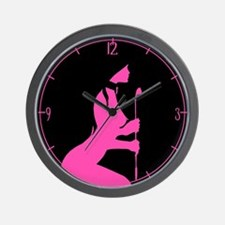 Pink Toy Wall Clock
