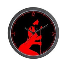 Red Toy Wall Clock