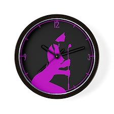 Purple Toy Wall Clock