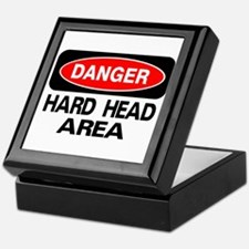 Danger Hard Head Area Keepsake Box