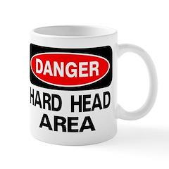 Danger Hard Head Area Mug