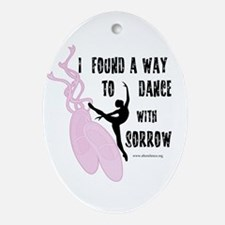 Dance with Sorrow Oval Ornament