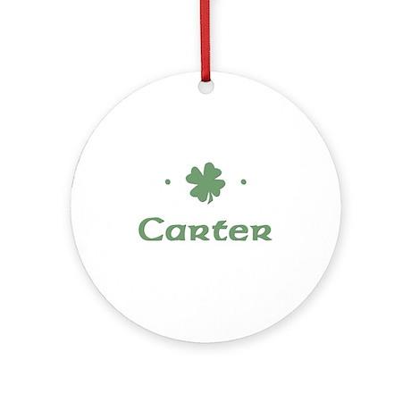 """Shamrock - Carter"" Ornament (Round)"
