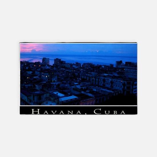 CUBAHavanaSunsetCanvChazExt150dpi 3'x5' Area Rug