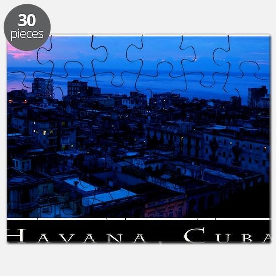 CUBAHavanaSunsetCanvChazExt150dpi Puzzle