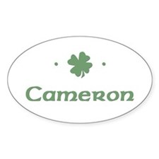 """Shamrock - Cameron"" Oval Decal"