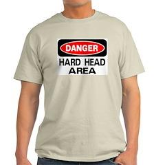 Danger Hard Head Area Ash Grey T-Shirt
