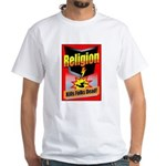 Religion: Kills Folks Dead! Red Raid White T