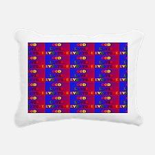 God Loves Everyone multi Rectangular Canvas Pillow