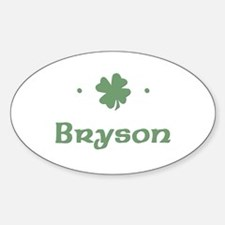 """Shamrock - Bryson"" Oval Decal"