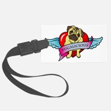 pugalicious-heart-wings Luggage Tag