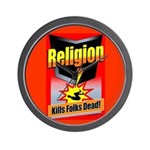 Religion: Kills Folks Dead! Wall Clock