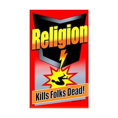 Religion: Kills Folks Dead! Rectangle Decal
