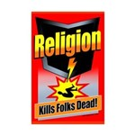 Religion: Kills Folks Dead! Mini Poster Print