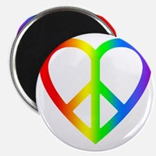 2000x2000peaceheartrainbow2clear Magnet