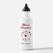 SanDiego_5x7_Christmas Water Bottle