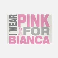 I-wear-pink-for-BIANCA Rectangle Magnet