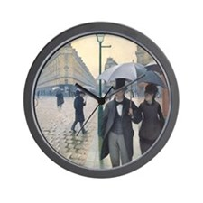 Rainy day in Paris Wall Clock