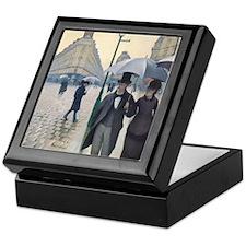 Rainy day in Paris Keepsake Box