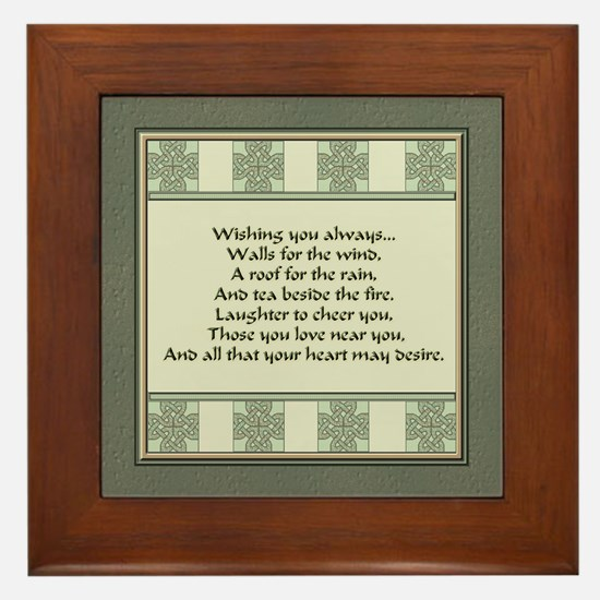 Irish Blessing Framed Tile