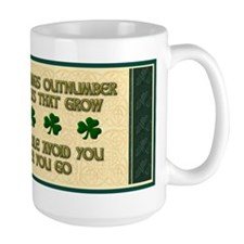 Shamrock Irish Blessing Mug